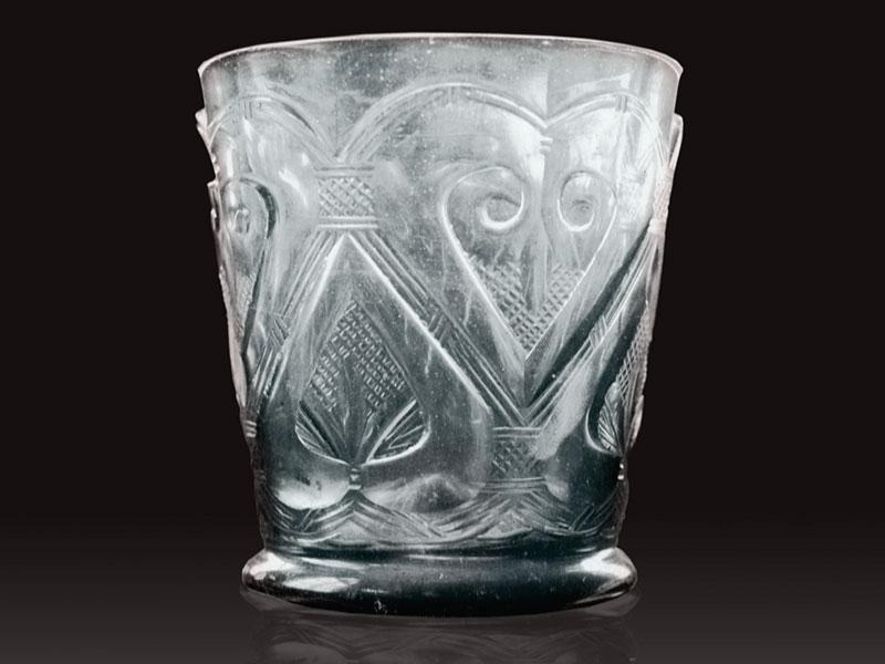 ein wichtigstes Schatzstück: der antike Asseburger Becher, vermutlich aus Ägypten und 1000 Jahre alt