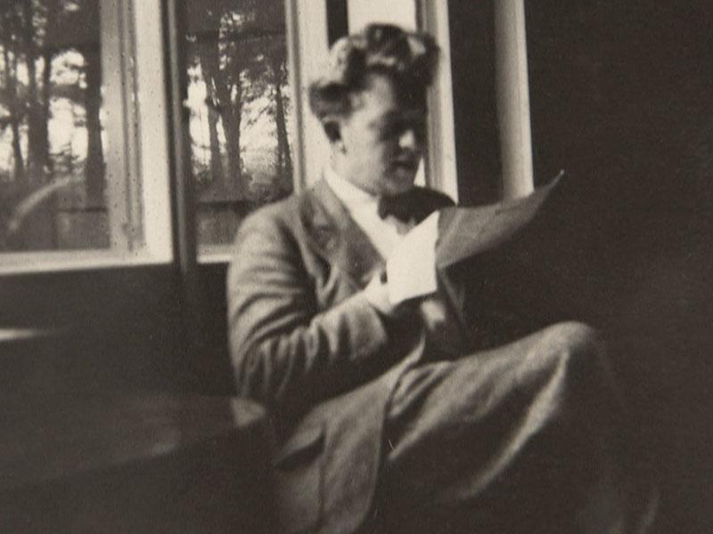 Kunstsammler Hermann Klumpp freut sich über Post von seinem Freund aus Amerika