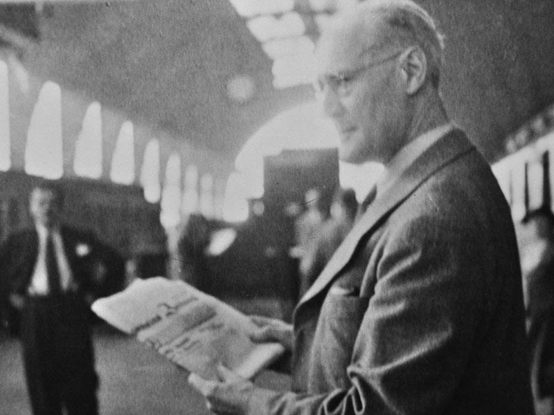 Feininger nimmt Abschied von Deutschland