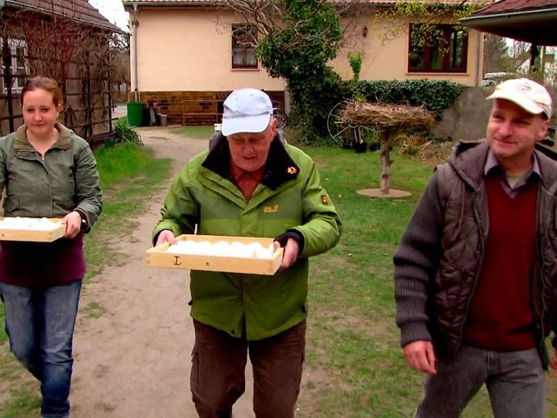 drei Generationen mit einer Mission – die Erhaltung des Weißstorchs in der Region