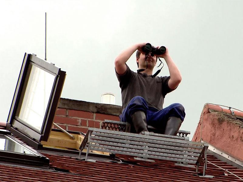 auch ein guter Platz zur Beobachtung – vom Dach aus