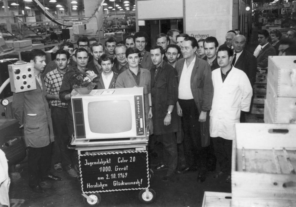 Am 2. Oktober 1969 - einen Tag vor der Eröffnung des Farbfernsehsenders - haben die Staßfurter den 1000en Color 20 gebaut